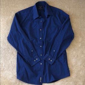 Dockers Blue Button Down Dress Shirt 15-15.5 32/33